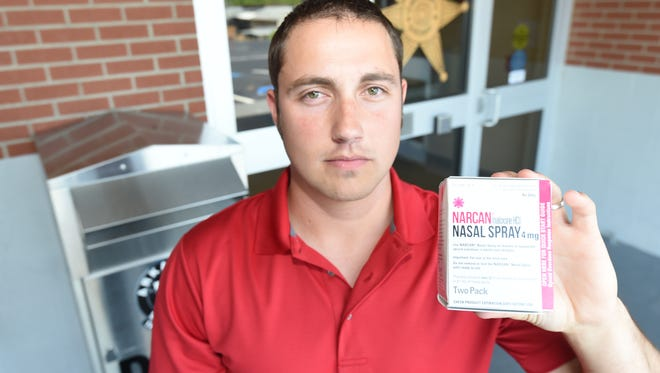 Izard County deputy Jaden Whitfield used a dose of Narcan recently to bring back a woman who had overdosed on opioids.