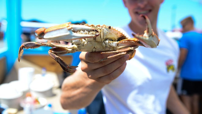 Fresh crabs at the 42nd Annual J. Millard Tawes Crab & Clam Bake in Crisfield, Md. on Wednesday, July 18, 2018.