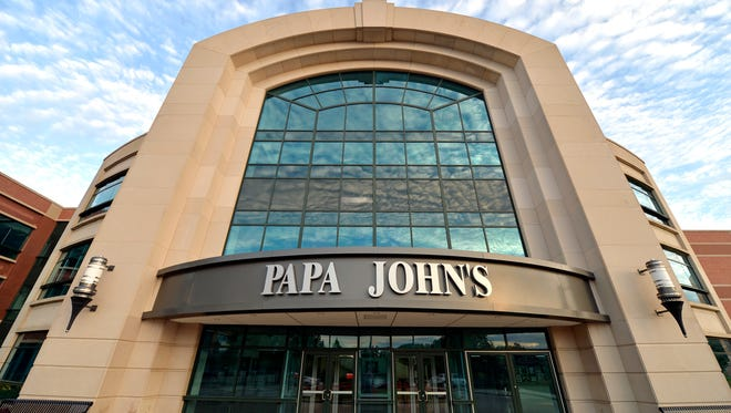 The corporate headquarters of Papa John's Pizza located on their corportae campus, Tuesday, July 17, 2018, in Louisville, Ky. (AP Photo/Timothy D. Easley)