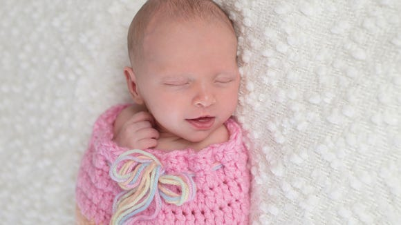Most popular baby girl names unique to each state
