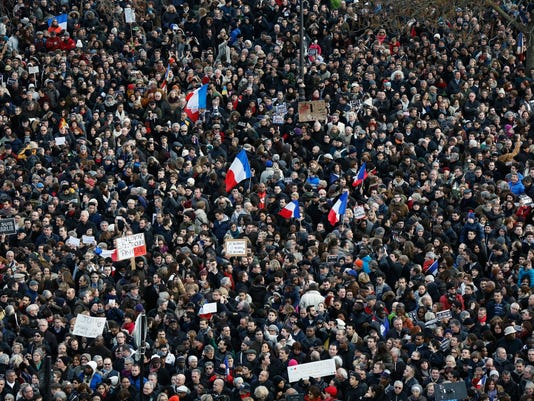 EPA FRANCE PARIS SOLIDARITY RALLY POL ACTS OF TERROR CITIZENS INITIATIVE & RECALL FRA