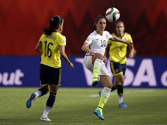 Soccer: Women's World Cup-United States at Colombia