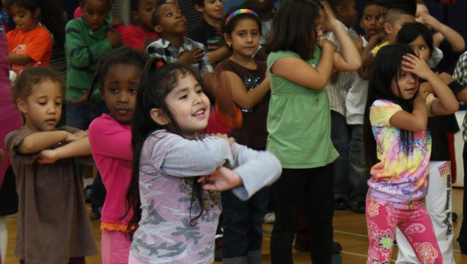 Kindergarten Club members perform a dance routine during the Boys & Girls Club of Northern Westchester Lights on Afterschool rally one of more than 7,500 such events held nationwide in 2009 to call the attention to the importance of after-school programs.