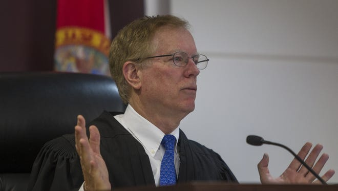 Judge John Cooper speaks during hearing in regards to an appeal filed by Attorney Mutaqee Akbar and SGA presidential hopeful Justin Bruno against FAMU's decision to hold re-elections across it's campus.