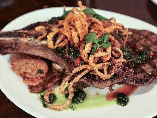 This 18-ounce bone-in ribeye will be offered at Guy Fieri's Smokehouse at Fourth Street Live!. May 10, 2016