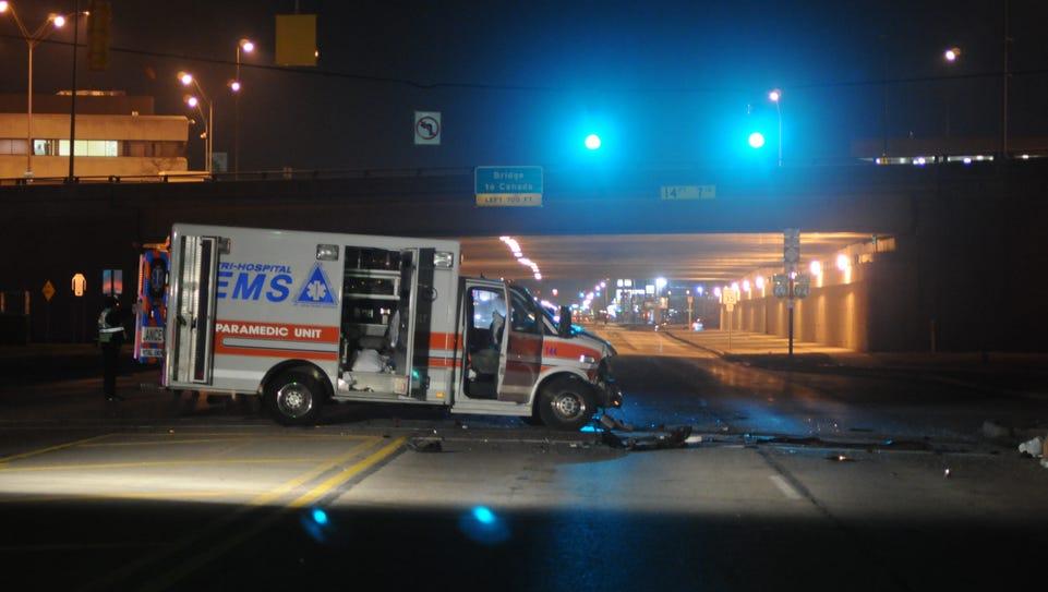 Port Huron police investigate the scene of an accident