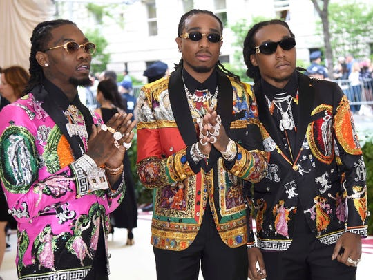 The victim says Migos rapper Offset, center, was the one who ordered his entourage to attack.