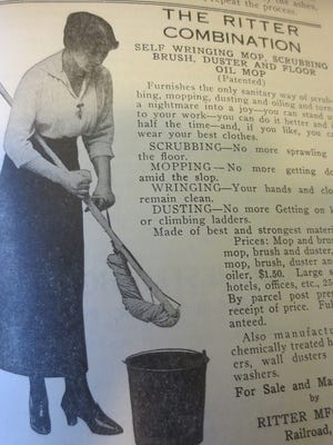 Advertisement for the Ritter Mop manufactured in Railroad, York County.