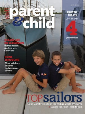 Justin and Mitchell Callahan, both 13, of Cape Coral, sail all over the world and rank among the best youth sailors. The cover was shot at The Westin Cape Coral Resort at Marina Village.