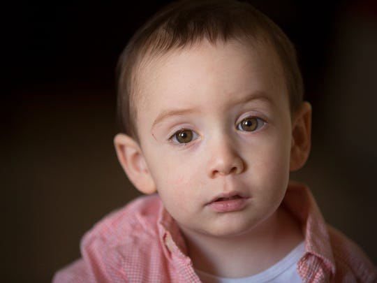 Wilson Hardy, who will be two in February, is photographed at his grandfather's home in Alexandria, KY.