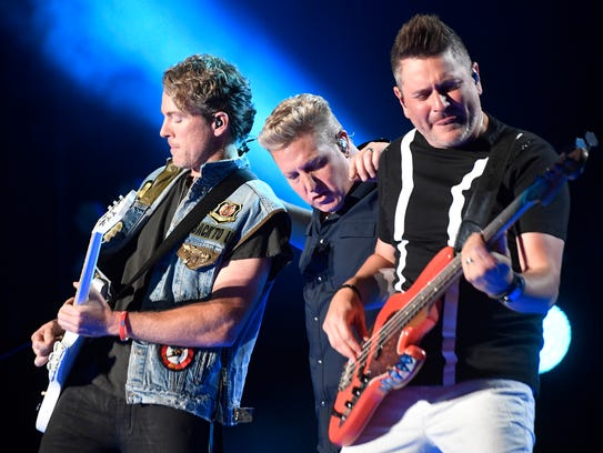 Rascal Flatts performs during the CMA Fest at Nissan