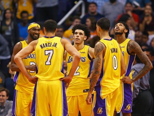 Los Angeles Lakers guard Corey Brewer (3), forward