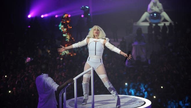 BROOKLYN, NY - NOVEMBER 10:  Lady Gaga performs at artRave on November 10, 2013 in Brooklyn, New York.  (Photo by Bryan Bedder/Getty Images for Benjamin Rollins Caldwell) ORG XMIT: 187584284 ORIG FILE ID: 187634108