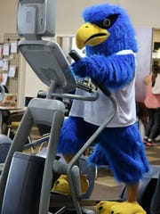 To get in shape as a part of his transformation, Flash the Falcon squeezed in a workout at the Wisconsin Athletic Club.