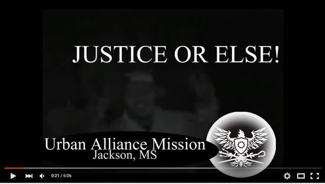 Screen capture of a video calling for a march on police headquarters on Saturday at 1:30 p.m.
