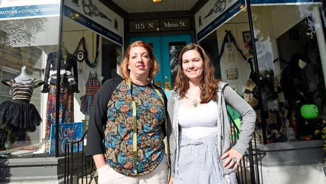 Connie Goodwin, left, and Cathy Green are the new owners of, Best Laid Seams, 115 N. Main St., Chambersburg.