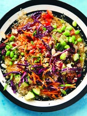 This protein-packed quinoa salad was created by vegan chef Chloe Coscarelli.