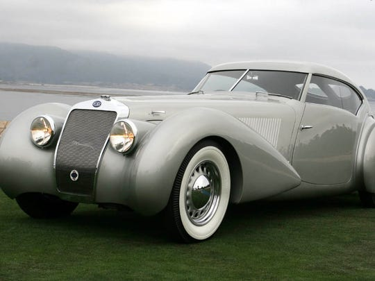 The 1937 Delage D8-120 de Villars Roadster, from the collection of Sam and Emily Mann, will be on display at the 40th Concours d'Elegance of America on Sunday, July 29, 2018.