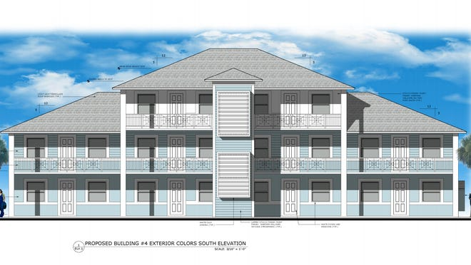Elevation illustration of Miraflor Apartments.