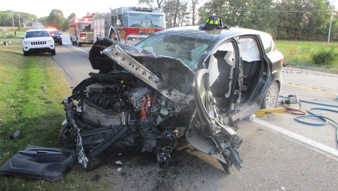 A 20-year-old Orelans woman suffered serious injuries in a crash about one mile north of Ionia on Monday, Sept. 25, 2017 around 5:30 p.m.