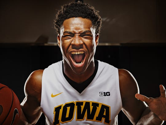 Iowa forward Ahmad Wagner poses for a portrait during