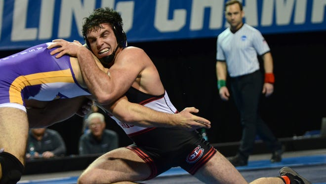 St. Cloud State's Vince Dietz lost to Luke Cramer of Ashland, 5-1 in the 197-pound national championship match Saturday night at the University of Northern Iowa.