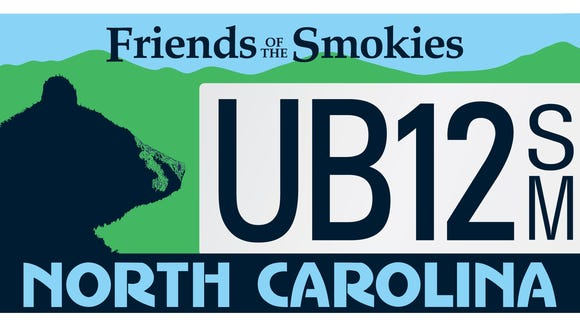 The Friends of the Smokies black bear plate is one of the most popular specialty plates in North Carolina.
