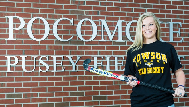 Pocomoke's Lexi Butler is heading to Towson University to play Division 1 field hockey after a record setting career with the Warriors culminated by a state championship in the fall.