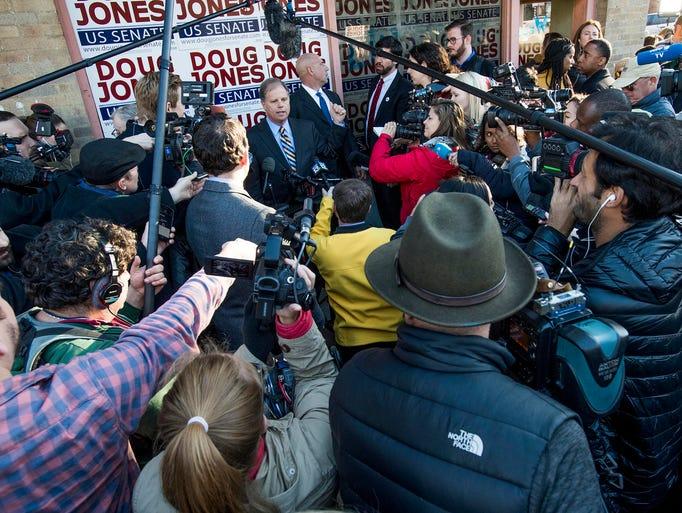 Democratic U.S. Senate candidate Doug Jones speaks