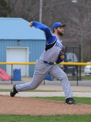 Harper Creek graduate Zach Smith is a standout pitcher for nationally-ranked Kellogg Community College and will play at Northwood University next year.