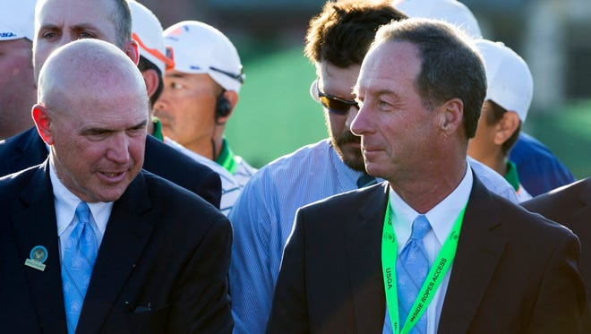 Owner Andy Ziegler (right) is confident another U.S. Open will come to Erin Hills in the future.