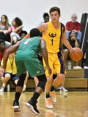 Foster Loyer (1) will be among the 12 Michigan State players taking part in this summer's Moneyball Pro-Am.