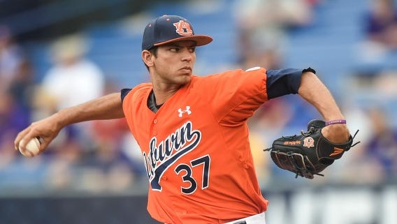 Auburn pitcher Rocky McCord was drafted in the 26th round by the Baltimore Orioles.