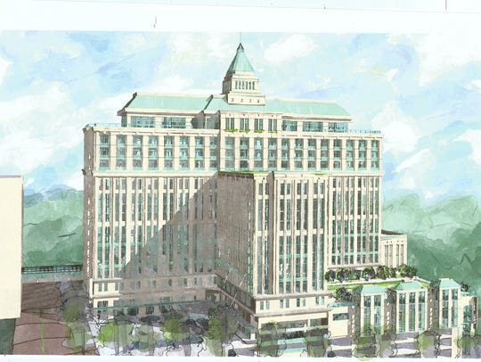 A rendering of the Washington Square development that