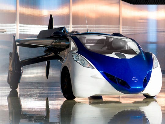 The AeroMobil 3.0 prototype self-driving car, which