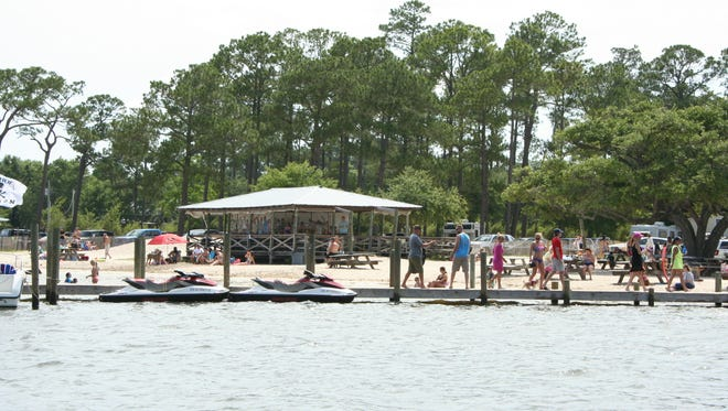 Pirate's Cove and dock.