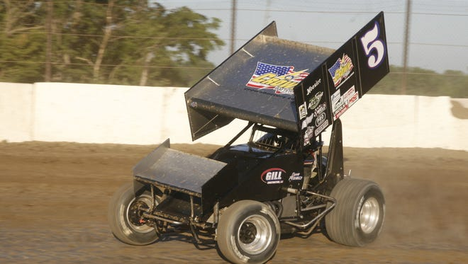 Byron Reed is third in the 410 sprint points standings at Fremont Speedway this season.