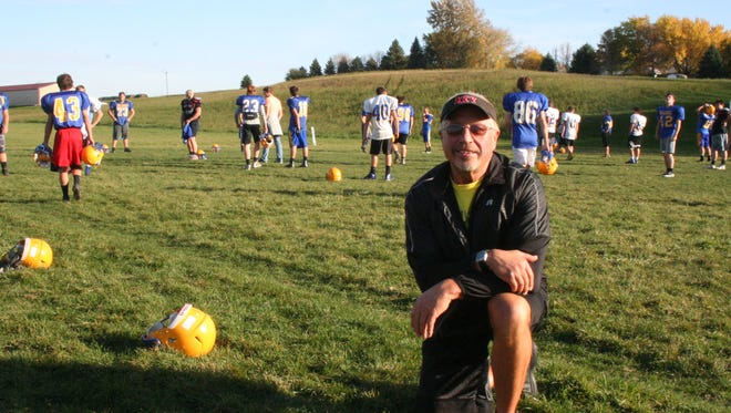 Tim Driscoll played on the Baltic High School 1971 undefeated football squad. He enjoys watching practices and games of this year's team, the first to have an undefeated regular season since Driscoll played.