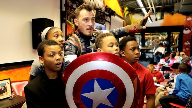 Hanna graduate Wade King last year made Captain America part of his social studies curriculum