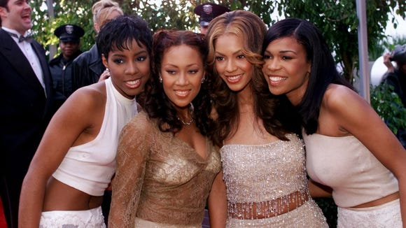 Destiny's Child arrive at the Grammys in 2000.