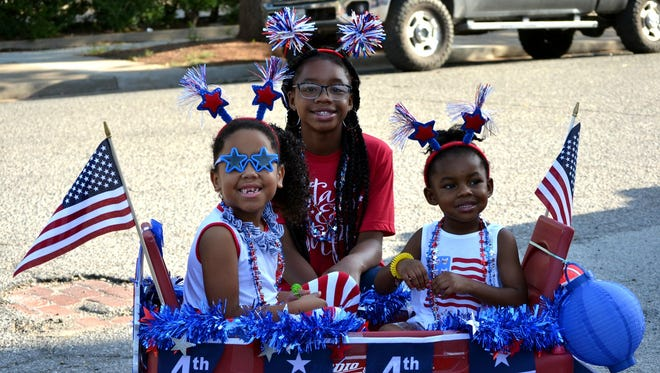 Young and old got decked out in their red-white-and-blue best for the annual Kell House Fourth of July parade and festivities.