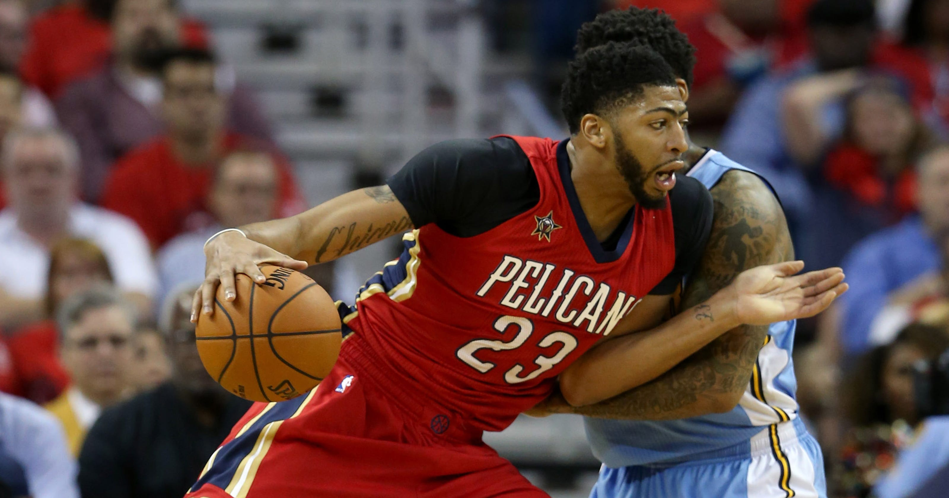 e13a1a962df Anthony Davis has 50 points and 15 rebounds in opener