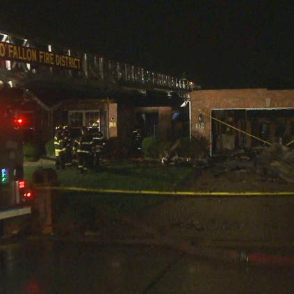 An O'Fallon, Mo. home was destroyed Thursday morning by fire.
