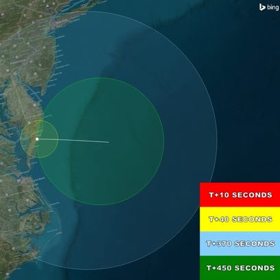 Where Tuesday's rocket launch can be seen.