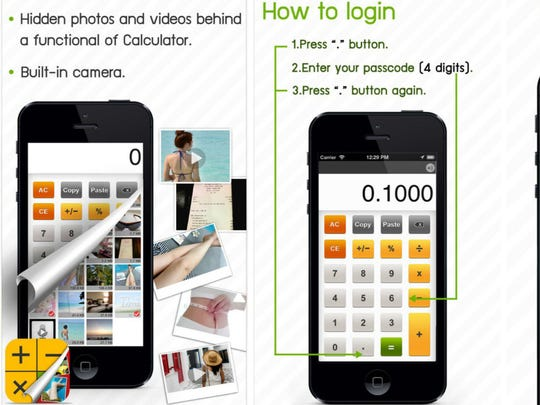 Calculator% can be used to hide explicit photos and