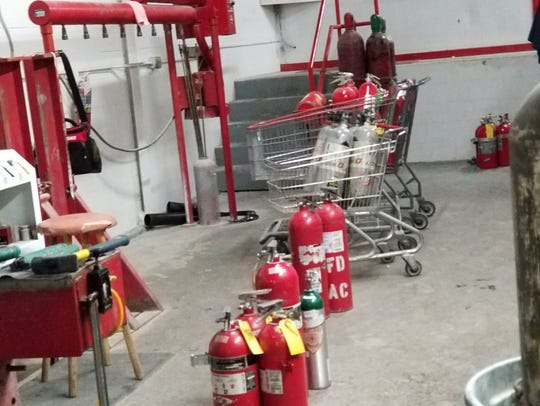 Fire equipment in Rochester Fire Equipment Co.'s location