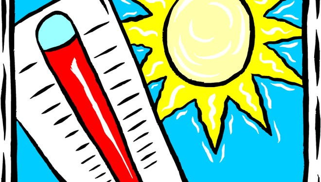 Monday's high temperature in Alexandria was 105 degrees, which set a record for Aug. 10.