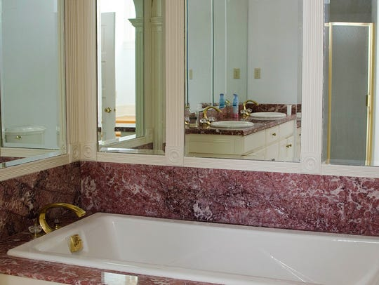 The master bath has all the  modern amenities needed