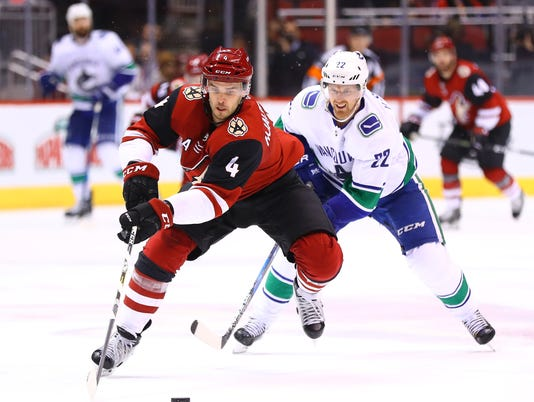 NHL: Vancouver Canucks at Arizona Coyotes