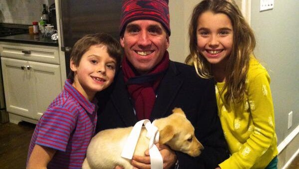 Beau Biden posted this picture on his personal Twitter account Feb. 8, 2014, writing ?Thank you to my wife & kids for the newest addition (& biggest birthday surprise) to our family, Liberty (aka Libby)!?? Beau Biden posted this picture on his personal twitter account Feb. 8, writing ?Thank you to my wife & kids for the newest addition (& biggest birthday surprise) to our family, Liberty (aka Libby)!?